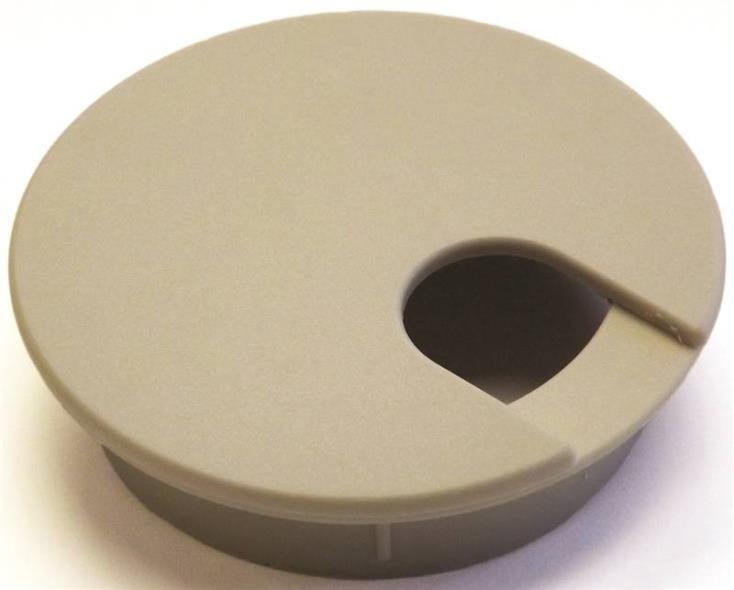 Jandorf 61603 Desk Grommet, Plastic, Almond