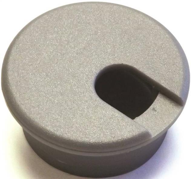 Jandorf 61615 Desk Grommet, Plastic, Metallic Silver/Gray
