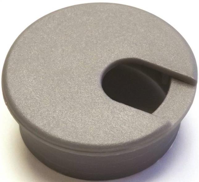 Jandorf 61616 Desk Grommet, Plastic, Metallic Silver/Gray