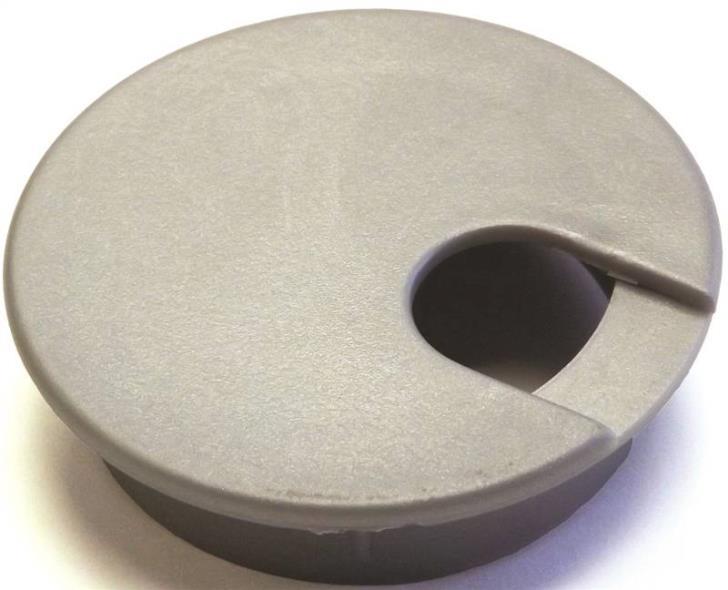 Jandorf 61618 Desk Grommet, Plastic, Metallic Silver/Gray