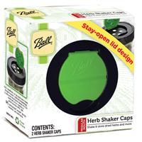 Ball 1440010747 Regular Mouth Herb Shaker Canning Lid, Plastic, Green/Black