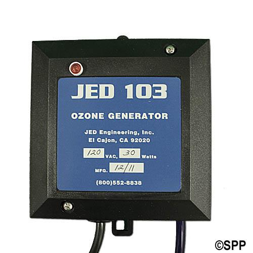 Ozonator, JED, Corona Discharge, 115V, w/4 Pin Amp Cord