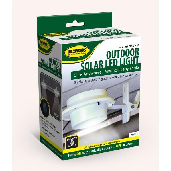 IDEAWORKS JB6806 WHITE OUTDOOR SOLAR LED LIGHT