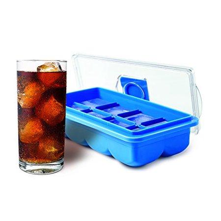HANDY GOURMET JB7764BLU BLUE LARGE ICE CUBE TRAY NO SPILL