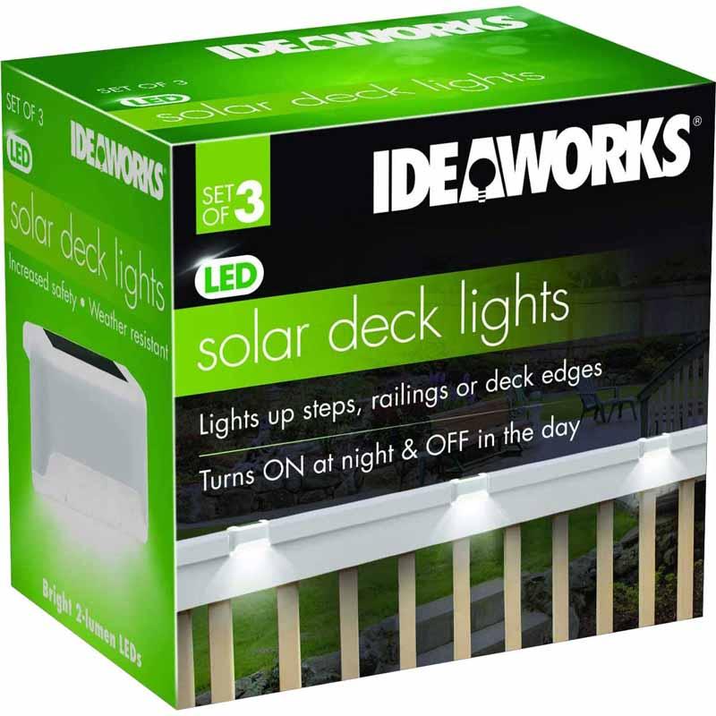 IDEAWORKS JB7816WHI S/3 SOLAR DECK LIGHTS.