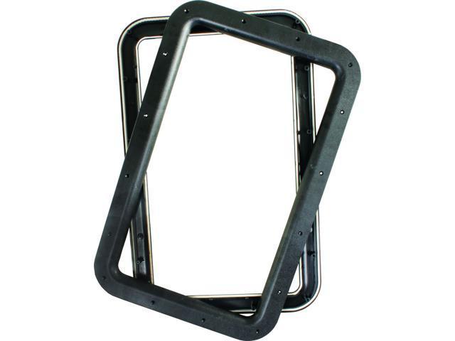 RV DELUXE ENTRY DOOR WINDOW FRAME, BLACK