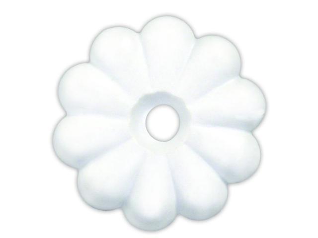 PLASTIC ROSETTES, WHITE