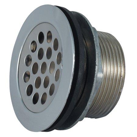 SHOWER STRAINER W/GRID, LOCKNUT, SLIP NUT, RUBBER AND PLASTIC WASHER