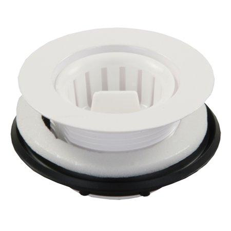 PLASTIC STRAINER W/THREADED BASKET, WHITE
