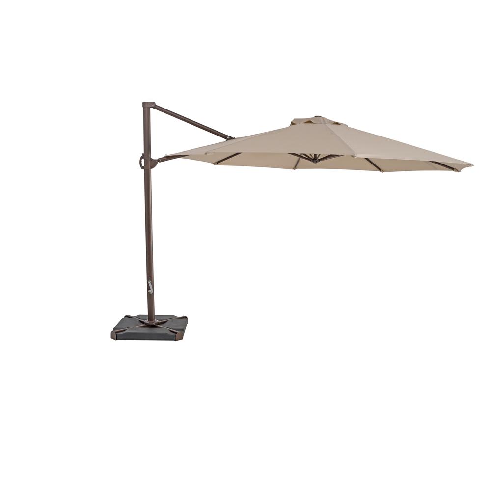 TrueShade Plus 11.5' Cantilever Round Umbrella Antique Beige