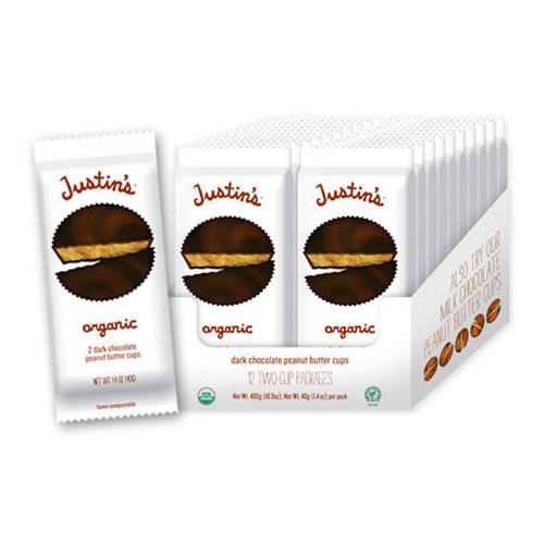 Justin's Dark Choc P/Butter Milk Cups (12x14 Oz)