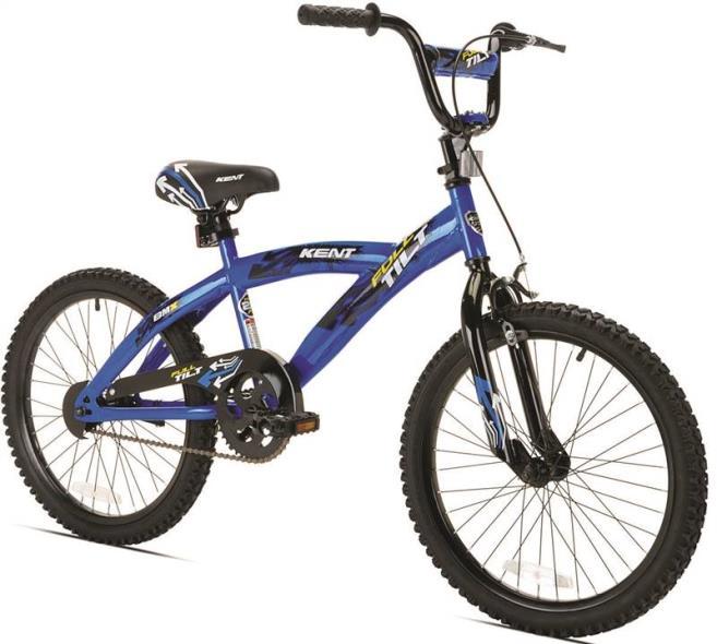 Kent Full Tilt Kids Bicycle, 20 in Front, 20 in Rear, Steel Frame, Blue/Black