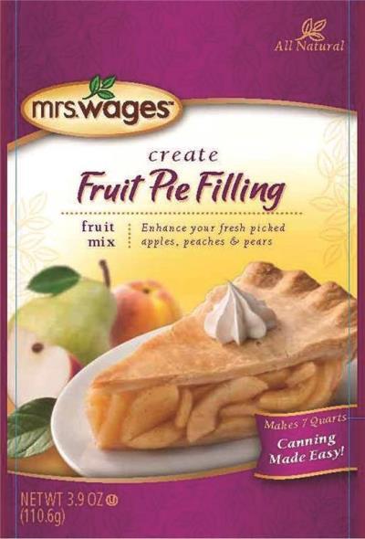 Mrs. Wages W801-J4425 Fruit Pie Filling Mix, 3.9 oz Pouch