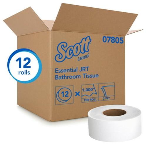 """Scott 9"""" JRT Jr. 2 Ply Jumbo Toilet Paper, 12 Rolls"""