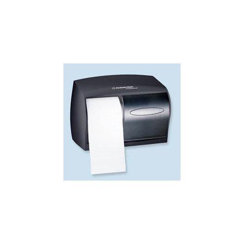Coreless Double Roll Tissue Dispenser, 11 1/10 x 6 x 7 5/8, Smoke/Gray