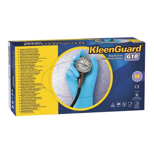 G10 Blue Nitrile Gloves, Powder-Free, Blue, Medium, 100/Box