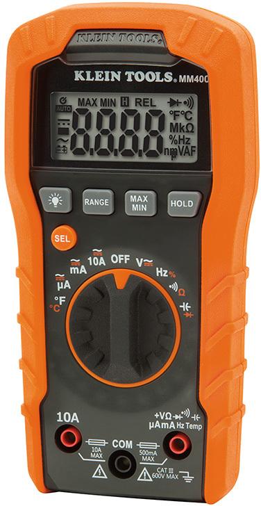 MM400 600V DIGITAL MULTIMETER
