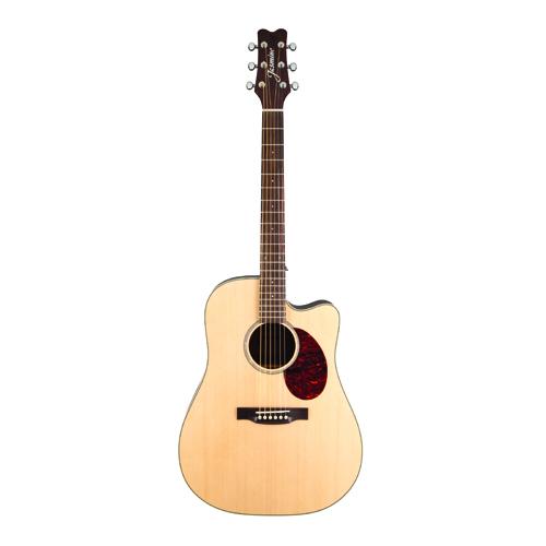 KMC Music Jasmine Dreadnought Cutaway Acoustic-Electric Guitar - Natural