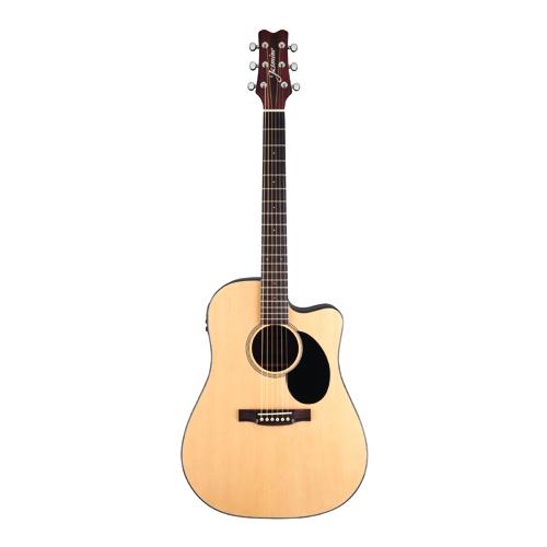 KMC Music Jasmine Dreadnought Cutaway Acoustic-Electric Guitar