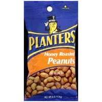 Planters 483276 Peanuts, 6 oz Bag, Honey Roasted
