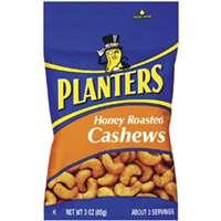 Planters 422700 Cashews, 3 oz Bag, Honey Roasted