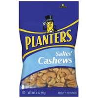 Planters 422465 Cashews, 3 oz Bag, Salted