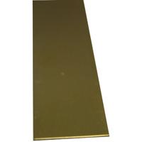 K & S 244 Metal Strip, 0.032 in T, 12 in L x 2 in W, Brass