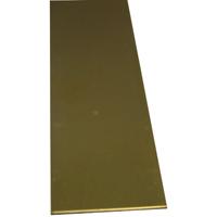 K & S 227 Metal Strip, 3/32 in T, 12 in L x 3/4 in W, Brass