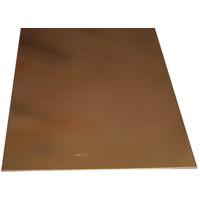 K & S 259 Metal Sheet, 0.025 in T, 10 in L x 4 in W, Copper