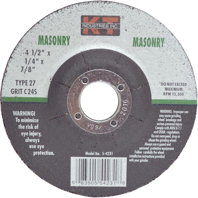 5-4231 4.5 IN. MASON GRINDING WHEEL