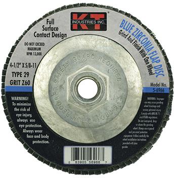 5-6966 4.5 IN. 60G BLUE FLAP DISC