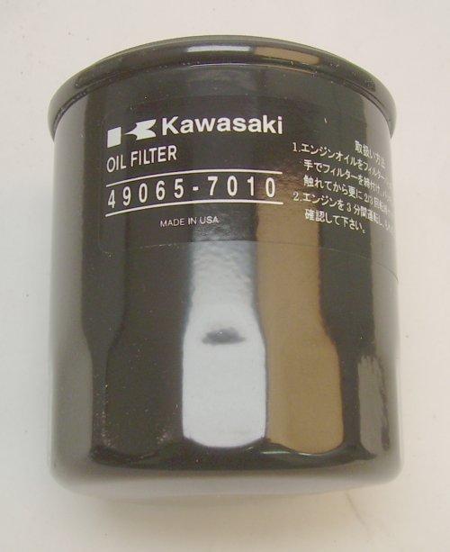 KA-490657010 KAWASAKI FILTER-OIL 49065-7010, replaces 49065-2078 (KAWASAKI OIL FILTER) Kawasaki Engine Parts