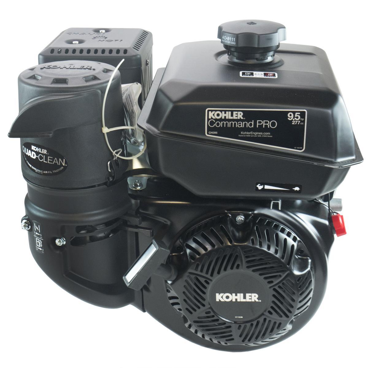 "9.5hp Kohler Command Pro Engine, Horizontal 1""x 3-21/32"" Keyed Shaft, Dual Bearings, Cyclonic Air Filter"