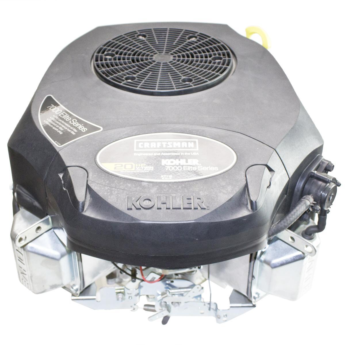"""20hp 7000 Series, Vertical 1"""" x 3-5/32"""" Shaft, OHV, Electric Start, 15 Amp Alt, Fuel Pump, Oil Filter, Kohler Engine"""