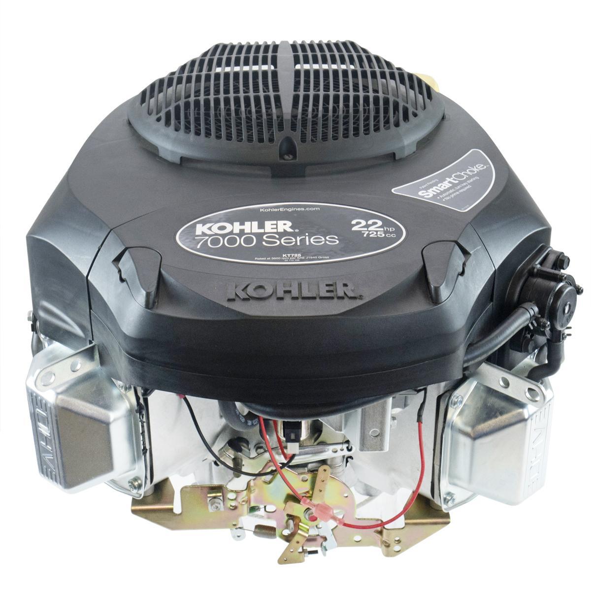 """22hp Kohler 7000 Series Engine, Vertical 1"""" x 3-5/32"""" Shaft, OHV, Electric Start, 15 Amp Alternator, Fuel Pump, Oil Filter"""