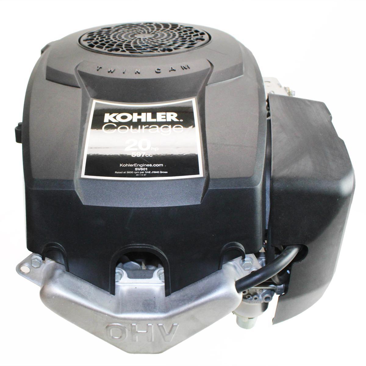 """20hp Courage Vertical 1"""" x 3 5/32"""" Shaft, OHV,  Oil Filter, Electric Start, 15 Amp Alternator, (No Fuel Pump) Kohler Engine"""