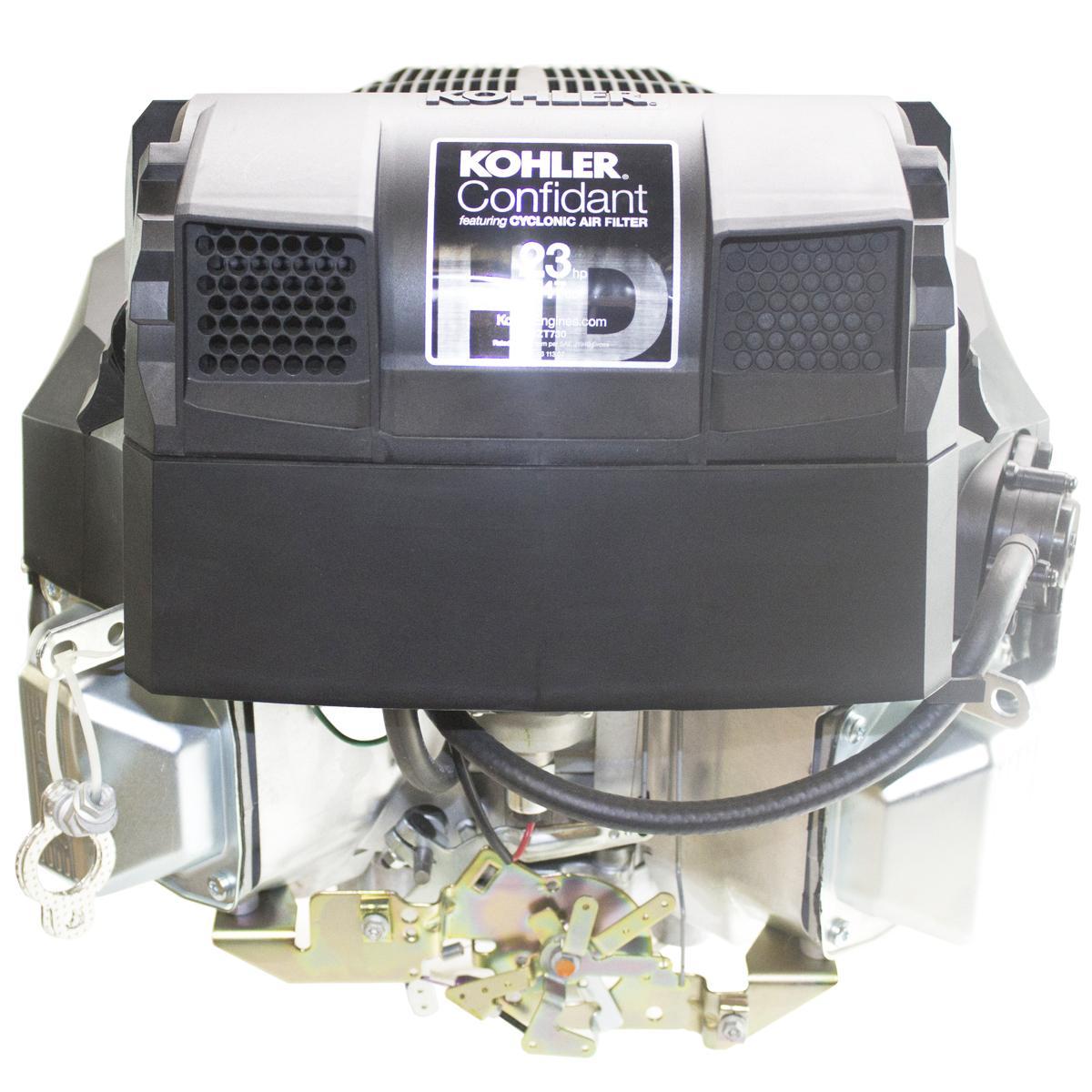 """23hp Confidant, Vertical 1-1/8"""" x 4-3/8"""" Shaft, OHV, Electric Start, 15 Amp Alt, Fuel Pump, Oil Filter, Kohler Engine"""