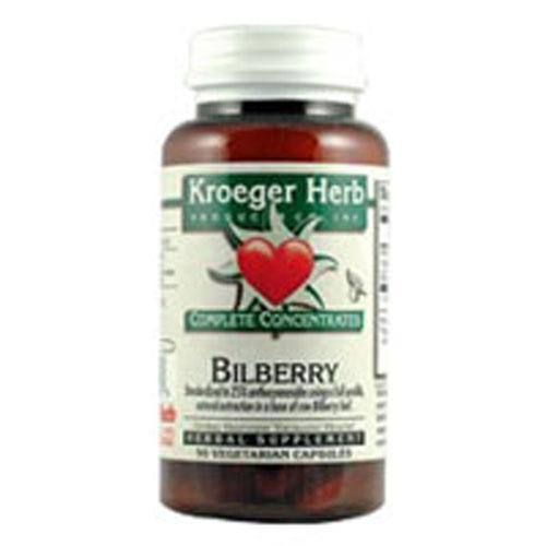 Kroeger Herb BiLberry (90 Veg Capsules)