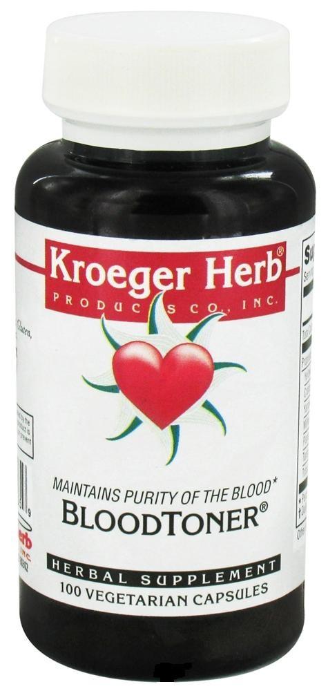 Kroeger Herb Blood Toner (100 Veg Capsules)