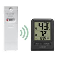 La Crosse 308-1910 Weatherstation Alarm Wireless Thermometer With Time, 32 - 122 deg F Indoor, -40 - 140 deg F Outdoor