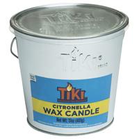 TIKI Citronella 1412110 Galvanized Citronella Filled Candle Bucket, 17 oz