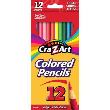 Colored Pencils, 12 Assorted Lead/Barrel Colors, 12/Set