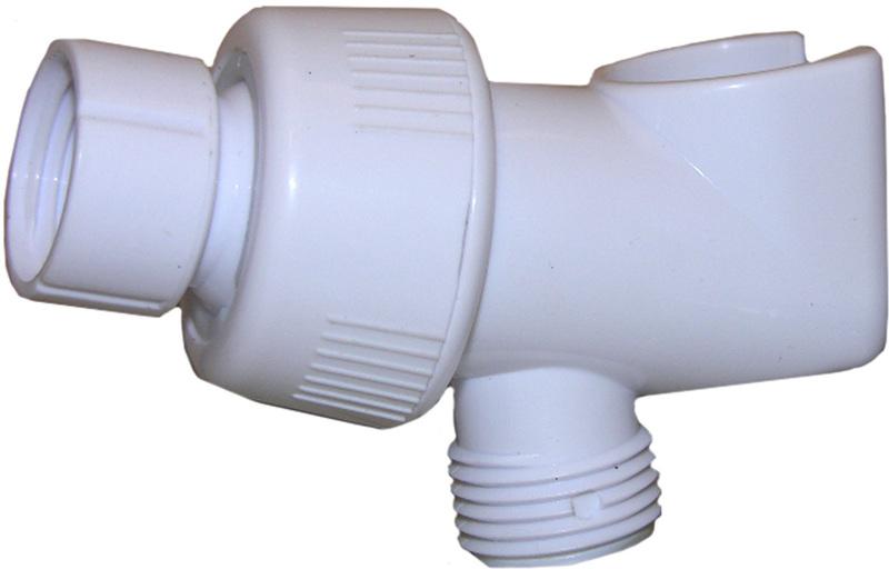 082423 WHITE SHOWER ARM BRACKET