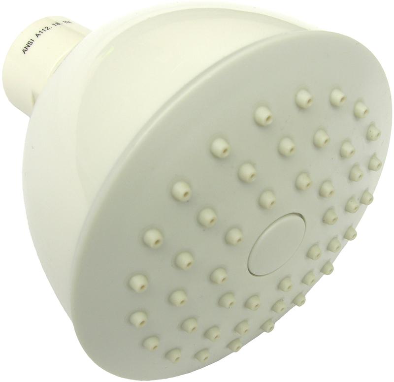 085101 WHITE SINGLE FUNCTION SHOWER HEAD