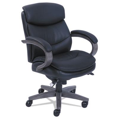 Woodbury Mid-Back Executive Chair, Black