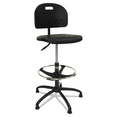 Workbench Shop Chair, 37 1/2 to 47 1/2h, Black, Polyurethane