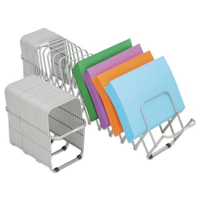 Flexifile Expandable Collator/Organizer, 12 Slot, 6 x 6 3/4 x 10 1/2, Silver
