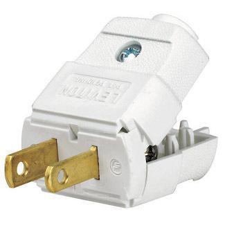 036-101-2WP WHITE 2-WIRE PLUG
