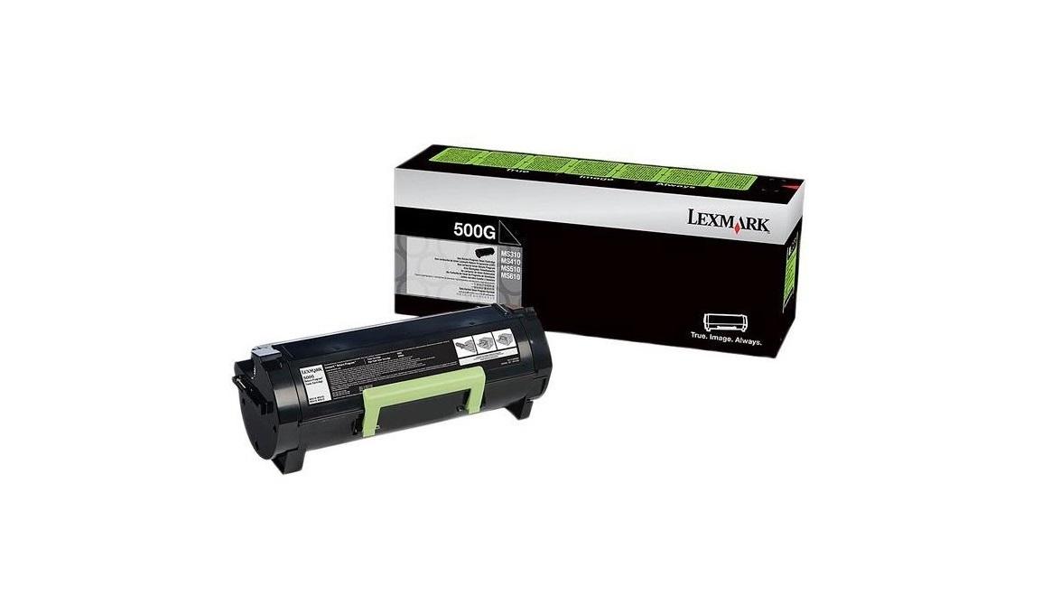 50F000G Return Program Toner Cartridge, 1,500 Page-Yield, Black