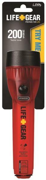 Life Gear LG127 Mini Water Resistant Flashlight, LED, 200 hr